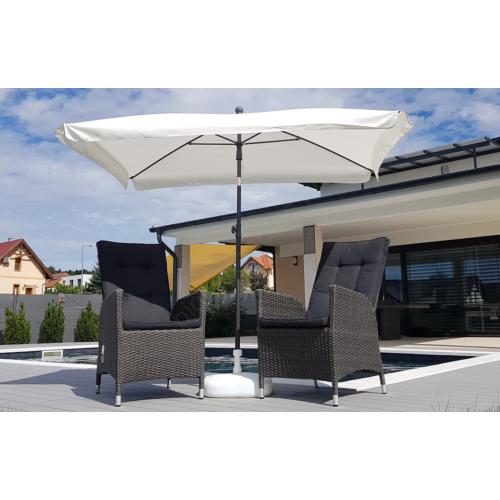 Fehér dönthető napernyő 200x130cm